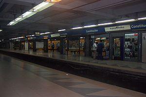 Constitución (Line C Buenos Aires Underground) - Image: Subte C constitucion