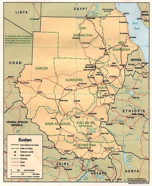 FileSudan Administrative Divisions 1994jpg Wikimedia Commons