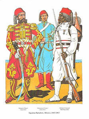History of Sudan (1821–85) - Sudanese Battalion in Mexico 1863-1867, fighting for Maximilian I