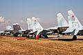 Sukhoi Su-27, Su-30, Su-34 & Su-35 at Zhukovsky 2012 (8583266443).jpg