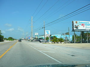 The Overseas Highway as it goes through Summerland Key