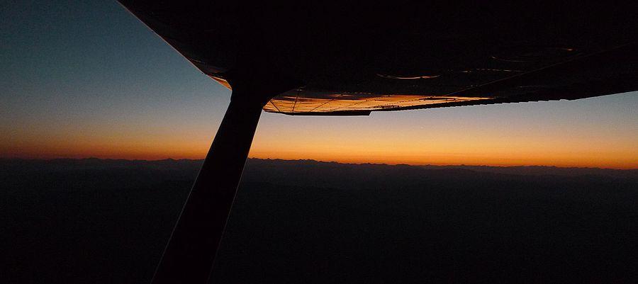 Sunrise in a 172