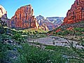 Sunrise on Angel's Landing, Zion NP 4-14 (15084148120).jpg
