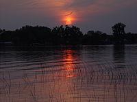 Sunset over lake george.JPG