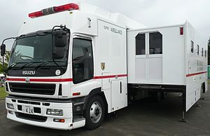 Ambulance bus - A Japanese ambulance bus from the Tokyo Fire Department