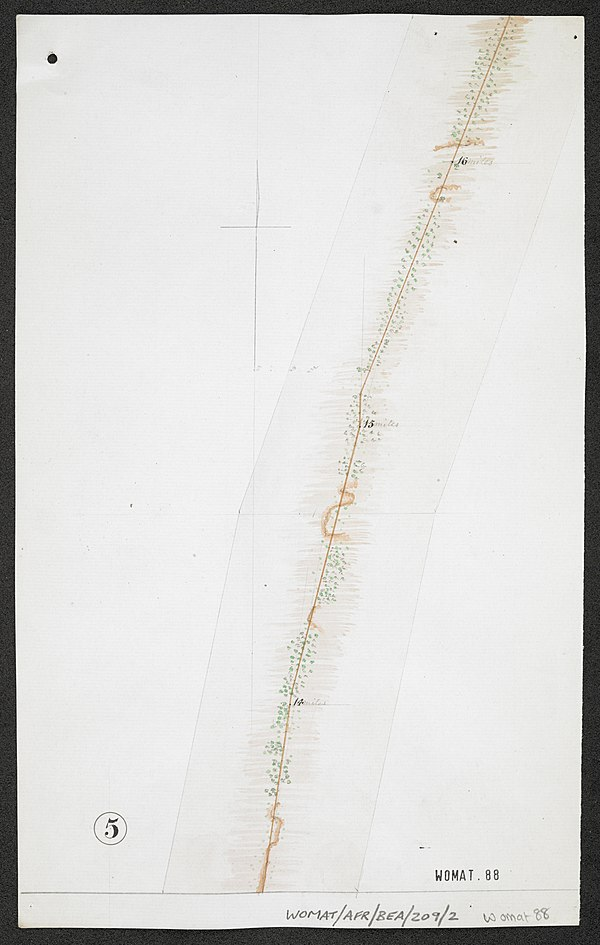 600px survey of telegraph line from melinde to lamu east africa. %28womat afr bea 209 2 5%29