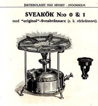 Portable stove - Early portable kerosene stove.