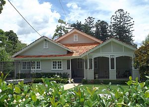 Chelmer, Queensland - Swain House on Laurel Avenue was listed on the Queensland Heritage Register in 2003