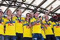 Sweden national under-21 football team celebrates in June 2015-6.jpg