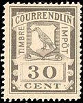 Switzerland Courrendlin 1901 revenue 30c - 3C.jpg