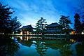 Tōdai-ji temple seen at night across Lake Of Paradise surrounding it. Nara, Nara Prefecture, Kansai Region, Japan.jpg