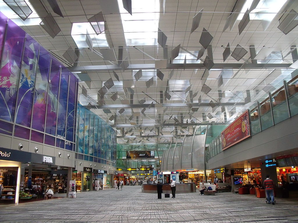 Transit area of T3, Changi Airport, Singapore