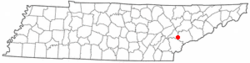 Location of Greenback, Tennessee