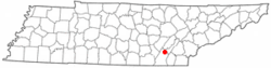 Location of Lakesite, Tennessee