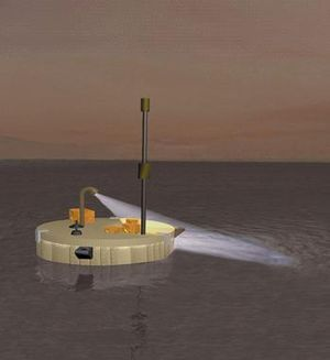 Titan Mare Explorer - Artist's impression of TiME lake lander