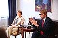 Tallinn Digital Summit press presentation by President Kersti Kaljulaid Digital innovation and Estonia's ambitions Kersti Kaljulaid and Taavi Linnamäe (37368782031).jpg