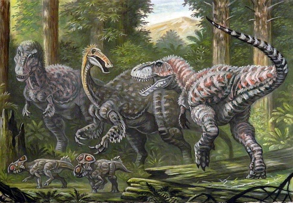Tarbosaurus and Deinocheirus
