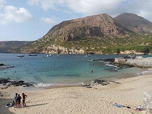 Tarrafal, Cape Verde - Tarrafal Beach with Monte Graciosa
