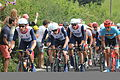Team GB on Box Hill circuit (by Nower Wood, near Headley), Surrey, during 2012 Olympics Mens Road Race.jpg