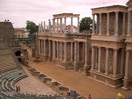 Teatro Romano de Mérida (Badajoz, España) 01.jpg