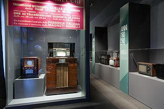 Magneti Marelli - Magneti Marelli televisors exhibited at the Museo nazionale della scienza e della tecnologia Leonardo da Vinci, Milan.