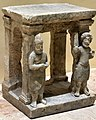Temple model with a priest and a worshiper, from Hatra, Iraq. 2nd-3rd century CE. Iraq Museum.jpg
