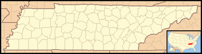 Location map USA Tennessee