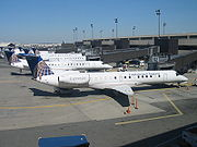 The largest operator of ERJs is ExpressJet, under the colors of Continental Express.