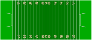 Gridiron football - Diagram of a Canadian football field, wider and longer than the American field
