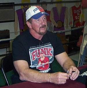 WCW Hall of Fame - Terry Funk, inducted in 1995