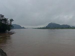 Hpa-An - View of Than Lwin Bridge in Hpa-An