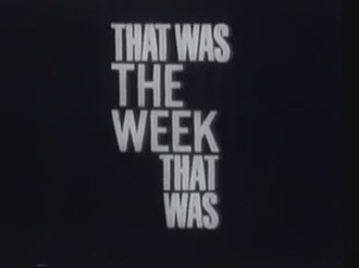 That Was the Week That Was - Image: That Was the Week That Was opening title