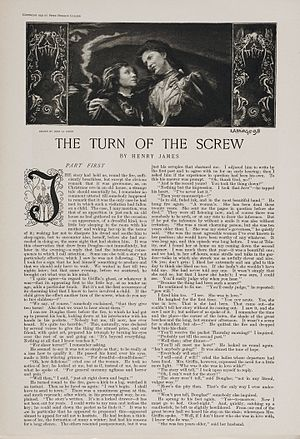 Collier's - First page of the 12-part serialization of The Turn of the Screw in Collier's Weekly (January 27 – April 16, 1898)