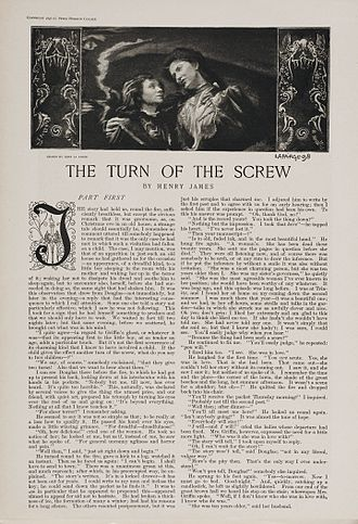 The Turn of the Screw - First page of the 12-part serialisation of The Turn of the Screw in Collier's Weekly (January 27 – April 16, 1898)