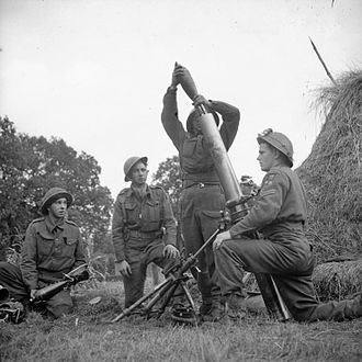 Ordnance ML 4.2 inch Mortar - Image: The British Army in North west Europe 1944 45 B10448