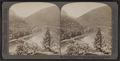 The Delaware Water Gap, where the Delaware River cuts through a mountain range, by Underwood & Underwood.png