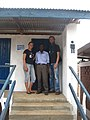 The Engineers Verena Dannapfel and Stefan Miethig witth the constructor Daniel Kitonga (6729966389).jpg
