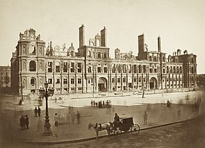Hôtel de Ville, Paris - Hôtel de Ville after the Paris Commune