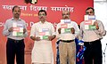 The Minister of State for Human Resource Development, Shri Upendra Kushwaha releasing the publication at the 56th NCERT foundation day celebrations, in New Delhi (2).jpg