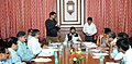 The Minister of State for Social Justice & Empowerment, Shri Ramdas Athawale chairing the meeting on the issues of India Deaf Society, in Mumbai on July 14, 2017.jpg