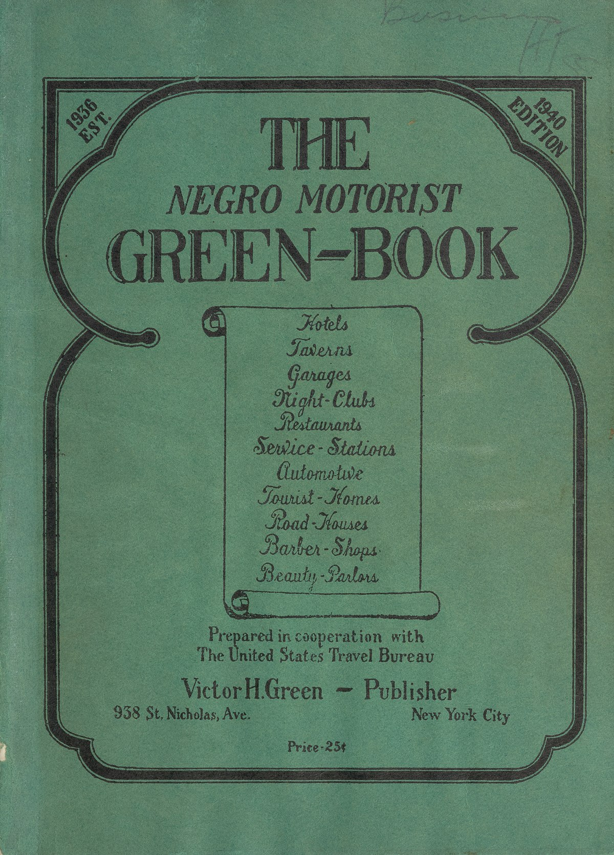 The Negro Motorist Green Book - Wikipedia