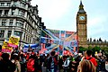 The New Union Flag infront of the houses of parliament.jpg