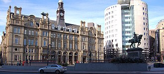 Leeds City Square - View of the Old Post Office and No1. City Square