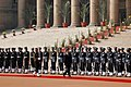 The President of Russia, Mr. Dmitry A. Medvedev inspecting the Guard of Honour at a ceremonial reception at Rashtrapati Bhavan in New Delhi on December 05, 2008 (1).jpg