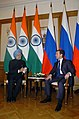 The Prime Minister, Dr. Manmohan Singh meeting the Russian President, Mr. Dmitry Anatolyevich Medvedev on the sidelines of the BRIC and SCO Summits, hosted by Russia, in Yekaterinburg, on June 16, 2009 (1).jpg
