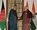The Prime Minister, Shri Narendra Modi meeting the former President of the Islamic Republic of Afghanistan, Mr. Hamid Karzai, in New Delhi on December 16, 2017.jpg