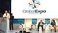 The Vice President, Shri M. Venkaiah Naidu addressing the gathering after inaugurating the Global Expo Botswana 2018, in Gaborone, Botswana.JPG