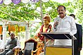 The Vice President, Shri M. Venkaiah Naidu addressing the gathering at Akshra Vidyalaya, in Nellore, Andhra Pradesh on October 04, 2017. The Governor of Andhra Pradesh, Shri E.S.L Narasimhan is also seen.jpg