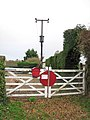 The Waveney Valley Line - old crossing gates - geograph.org.uk - 1592922.jpg
