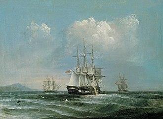 William Duke (artist) - William Duke, The Hobart whaling vessel Pacific, 1848. Art Gallery of South Australia.